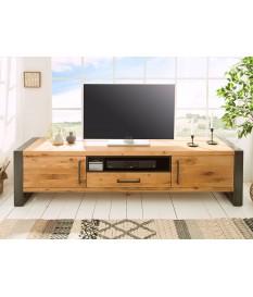 Meuble TV bois et métal look industriel 200 cm