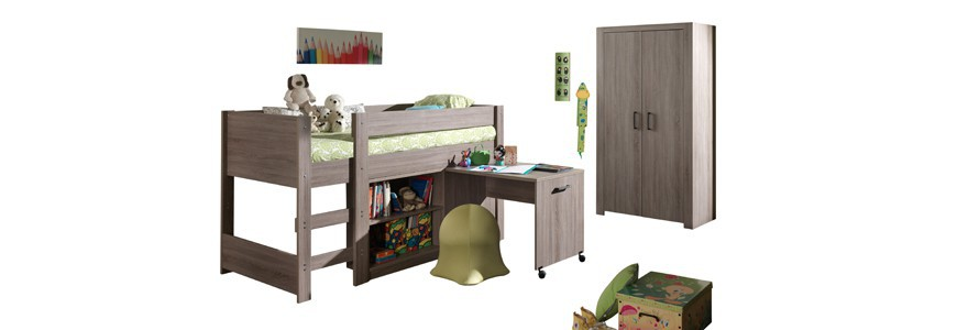chambre compl te enfant ado livraison gratuite novomeuble. Black Bedroom Furniture Sets. Home Design Ideas