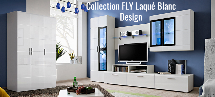 armoire dressing rangement blanc laqu novomeuble. Black Bedroom Furniture Sets. Home Design Ideas