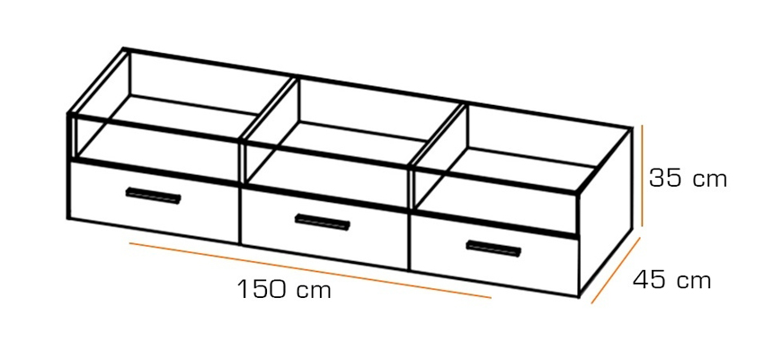 dimensions du meuble télé led