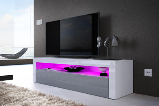 MEUBLE TV DESIGN A LED