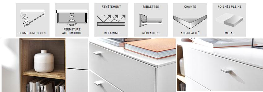 détail et qualité du meuble tv design