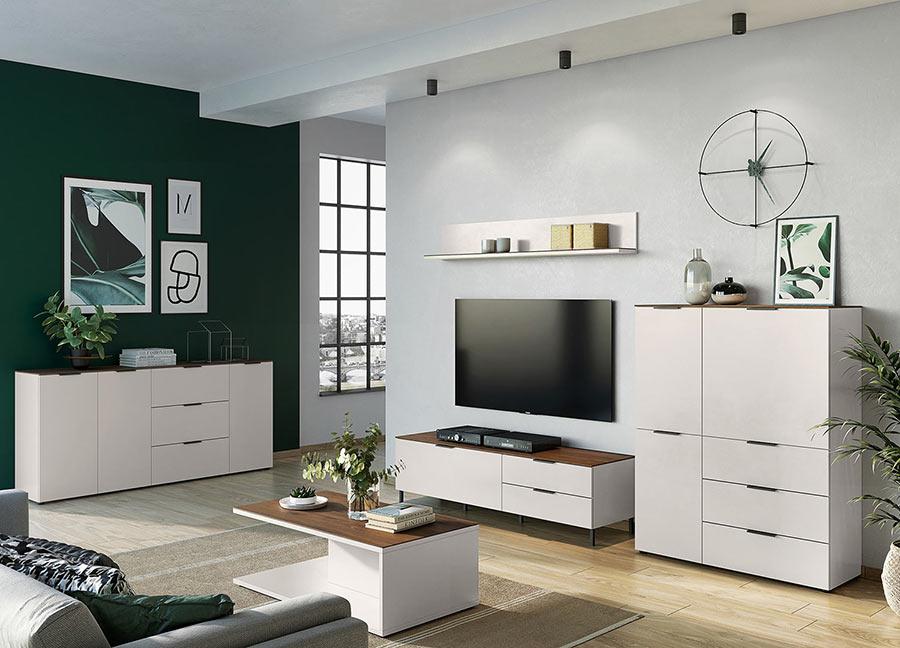 meuble de salle a manger blanc et bois design
