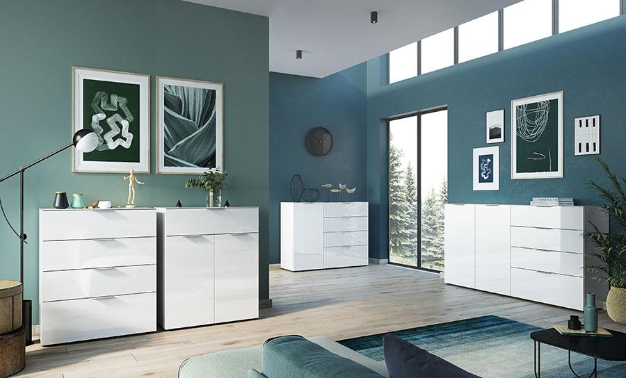 meuble de rangement blanc design