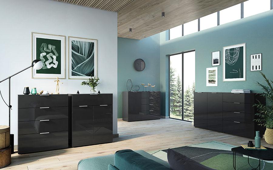 meuble de rangement noir design