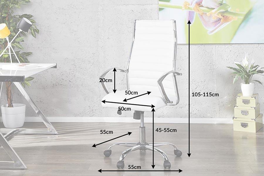 chaise de bureau confortable blanche