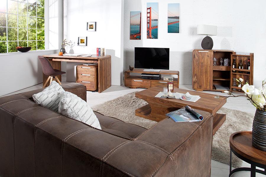 meuble intérieur en bois design de shesham
