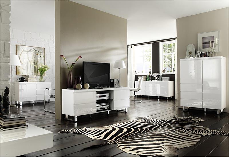 mobilier d'intérieur de salon séjour blanc laqué