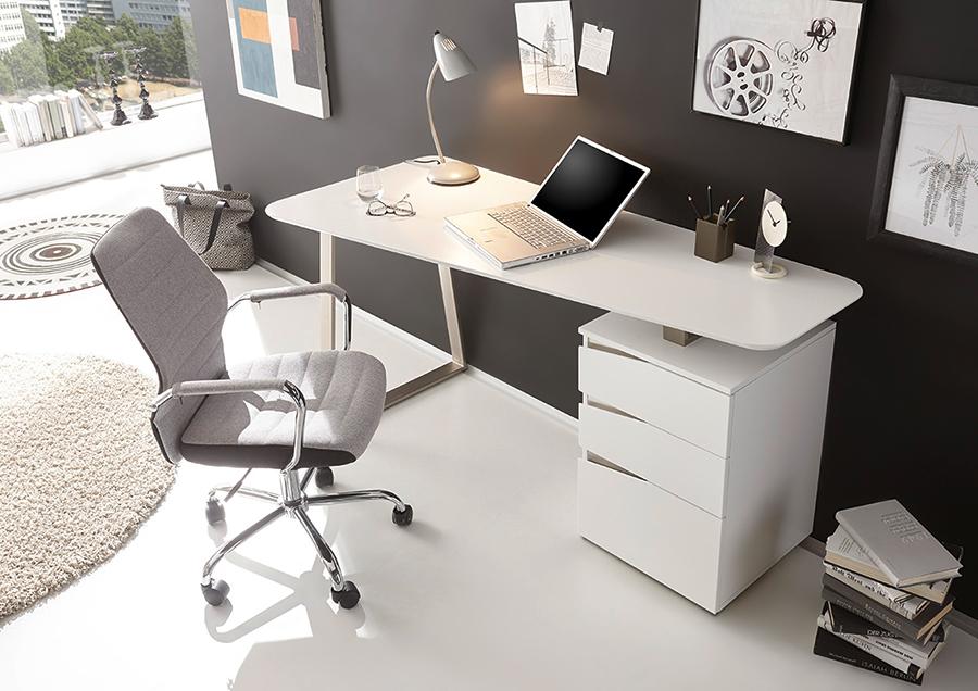 Bureau laqué bureau moderne blanc homeo textiles