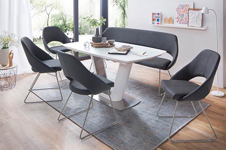 Table A Manger Design Avec Rallonge Blanche Novomeuble