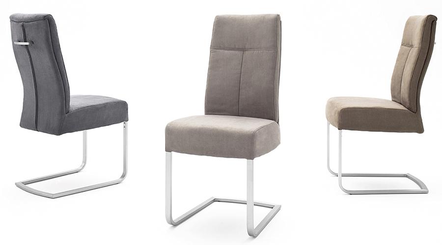 chaise de table avec poignée en cuir