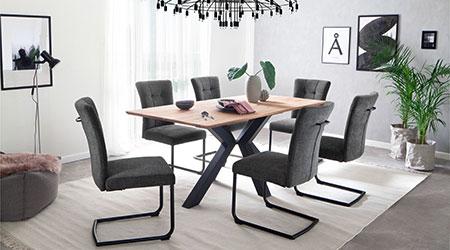 chaise en tissu pas cher et table de salle a manger