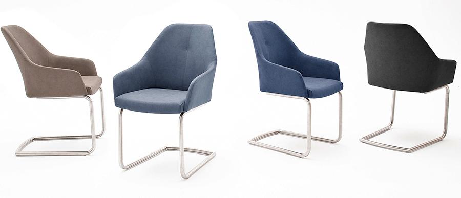 chaises enveloppantes avec accoudoirs pied inox pour chaises. Black Bedroom Furniture Sets. Home Design Ideas