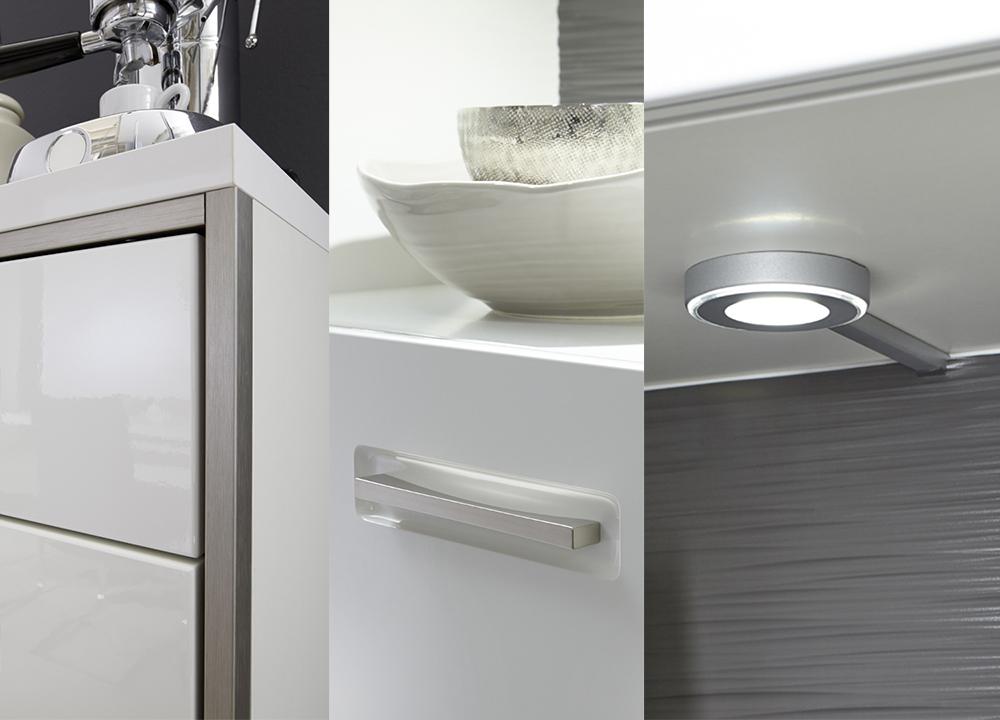 Meuble tv design lumineux blanc laqu novomeuble - Meubles les 3 suisses ...