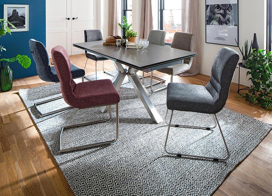 chaise en tissu moderne pas cher