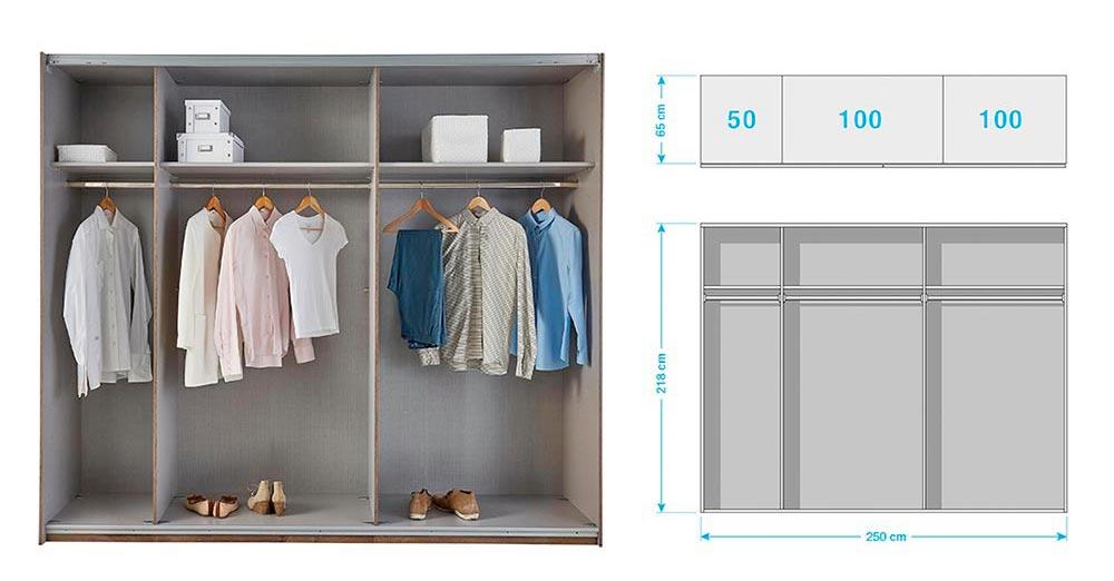 Armoire Miroir à Porte Coulissante pour chambre adulte